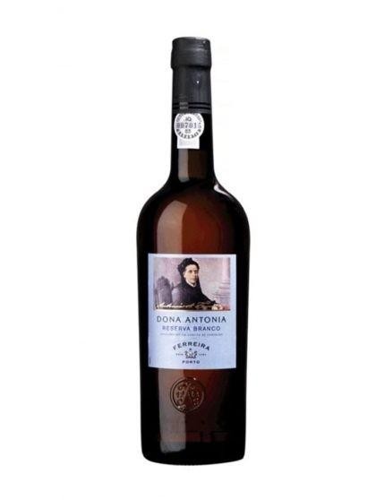 Eine Flasche Ferreira Dona Antónia Weiß Reserve Portwein