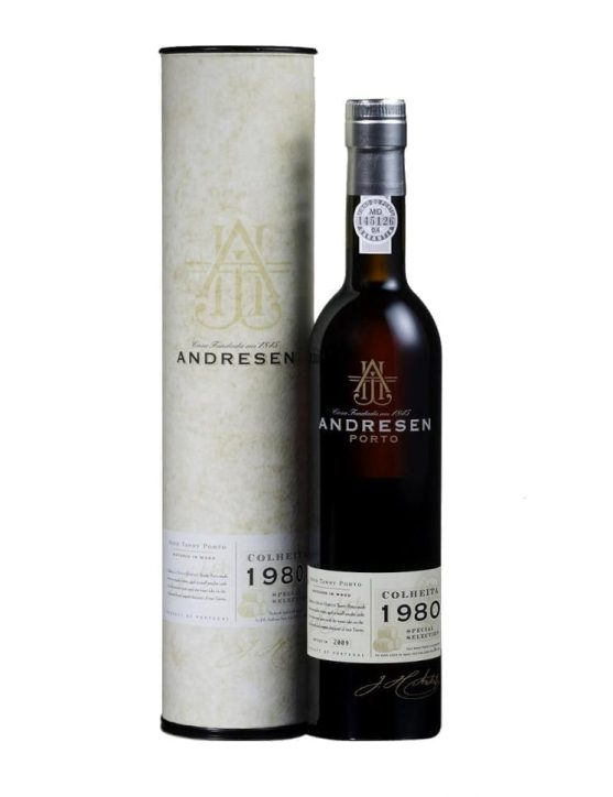 A Bottle of Andresen Harvest 1980 Port