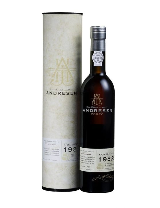 A Bottle of Andresen Harvest 1982 Port