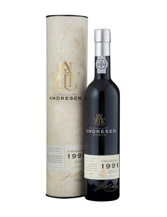 A Bottle of Andresen Harvest 1991 Port