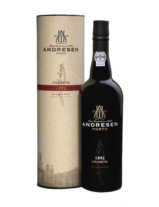 A Bottle of Andresen Harvest 1992 Port
