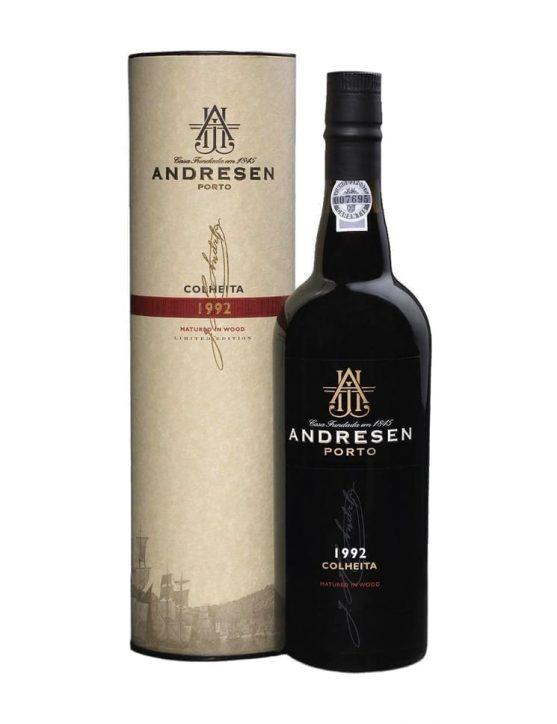 Eine Flasche Andresen Ernte 1992 Portwein