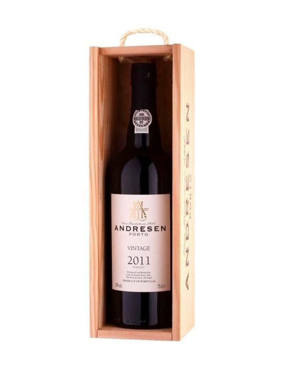 A Bottle of Andresen Vintage 2011 Port