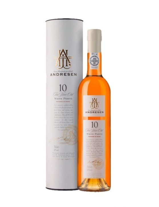 A Bottle of Andresen 10 Years White Port