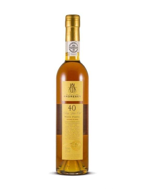Une bouteille de Andresen Blanc 40 Ans Porto
