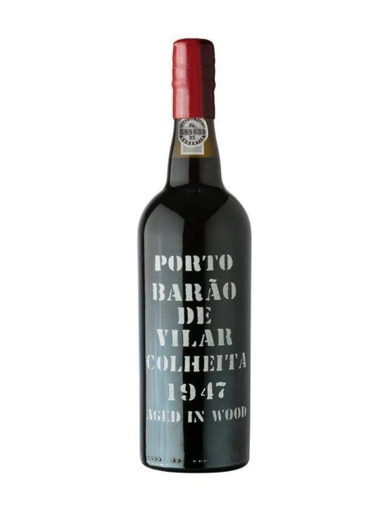 Une bouteille de Barão de Vilar Récolte 1947