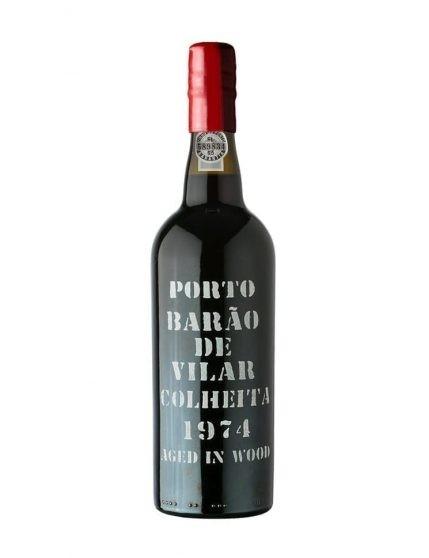 Une bouteille de Barão de Vilar Récolte 1974