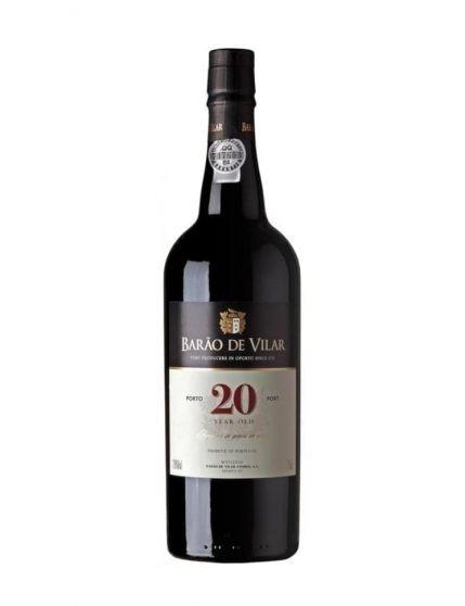 Une bouteille de Barão de Vilar Tawny 20 Ans Sublime avec boîte en bois