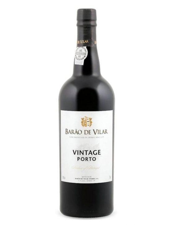 Eine Flasche Barão de Vilar Vintage 1999