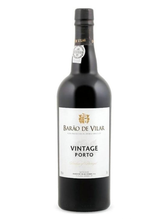 Eine Flasche Barão de Vilar Vintage 2000