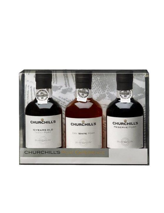 Une bouteille de Churchill's Pack Horizontal 3x20cl