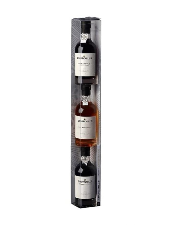 A Bottle of Churchill's Pack Vertical 3x20cl