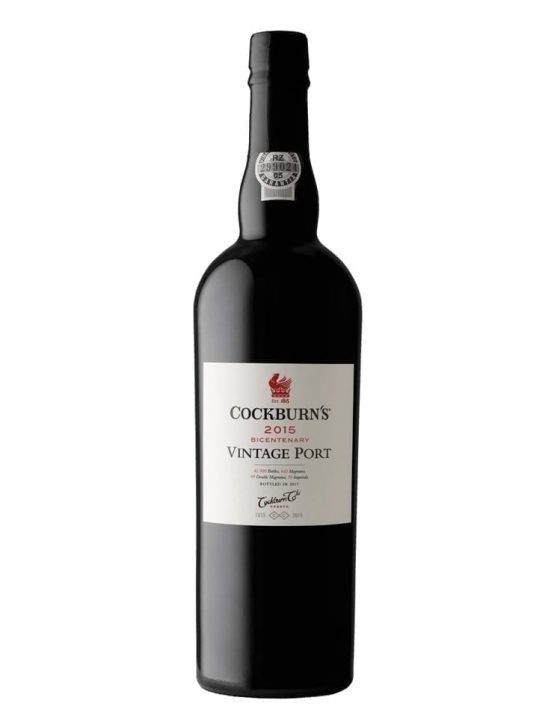 A Bottle of Cockburn's Vintage 2015 Port