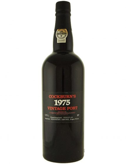 A Bottle of Cockburn's Vintage 1975