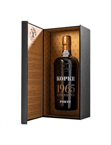 A Bottle of Coffret Kopke Harvest 1965