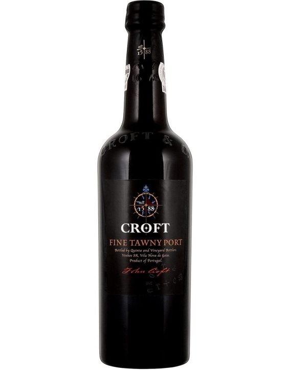 Eine Flasche Croft Fine Tawny Portwein