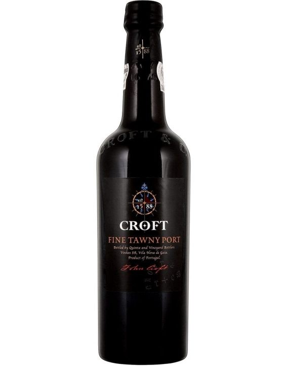 Une bouteille de Croft Fine Tawny Porto