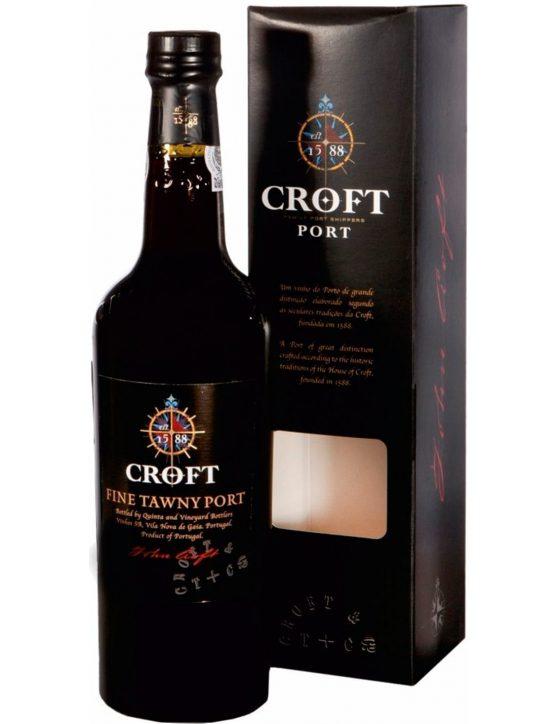 Une bouteille de Croft Tawny Avec le Cas Porto