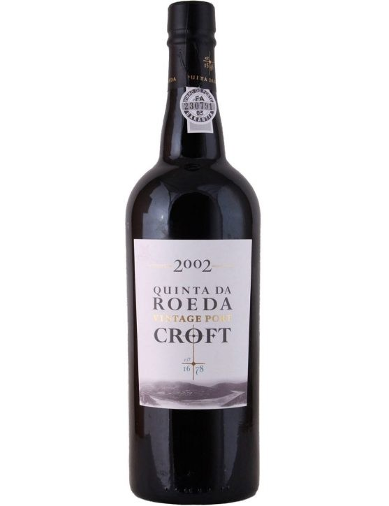 A Bottle of Croft Vintage Quinta da Roeda 2002 Port