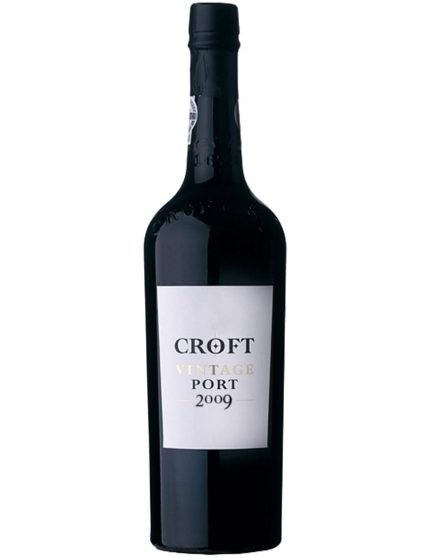 Une bouteille de Croft Vintage 2009 Porto