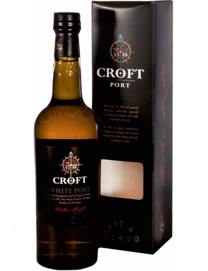A Bottle of Croft White with Case Box Port