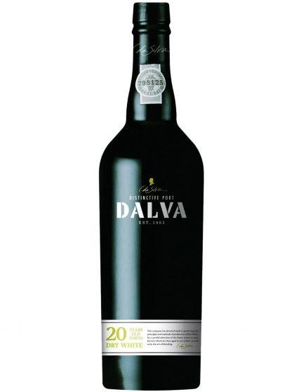 Une bouteille de Dalva 20 Ans Dry White Porto
