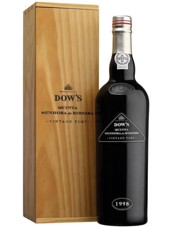 A Bottle of Dow's Sra Ribeira Vintage Magnum 1998 Port Wine