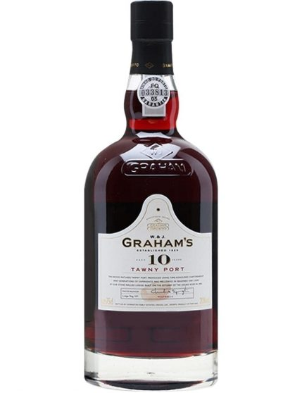 A Bottle of Engraving Graham's 10 Years