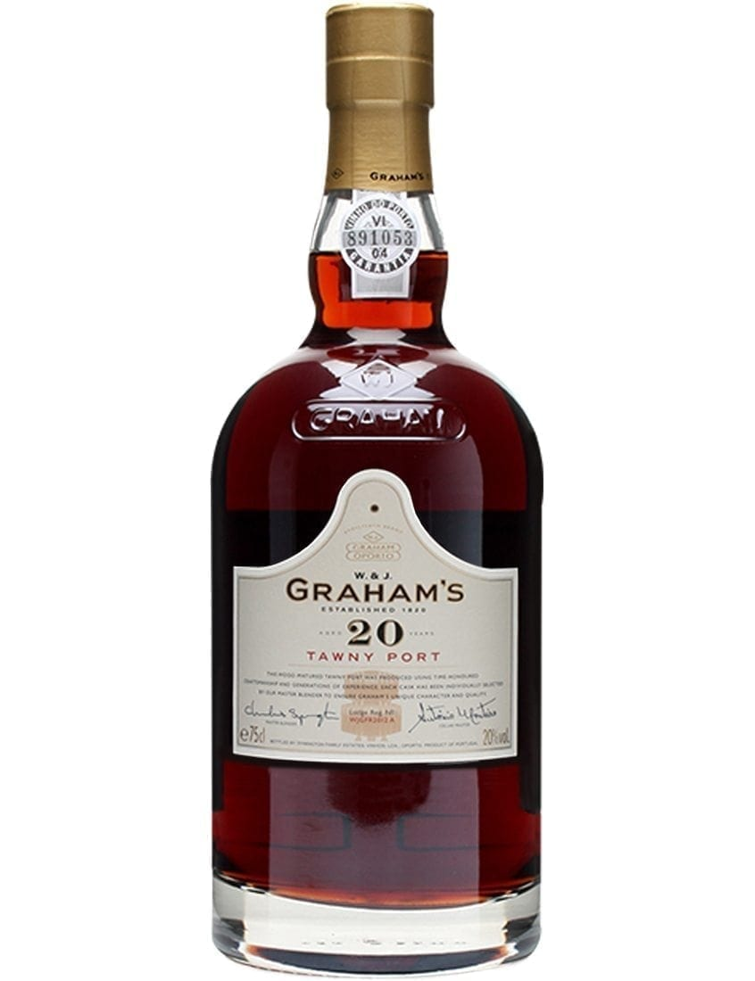 A Bottle of Engraving Graham's 20 Years