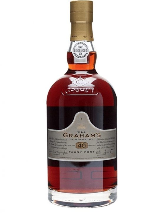 A Bottle of Engraving Graham's 40 Years