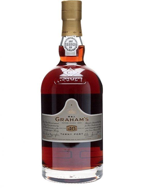 Eine Flasche Gravieren Graham's Tawny 40 Jahre