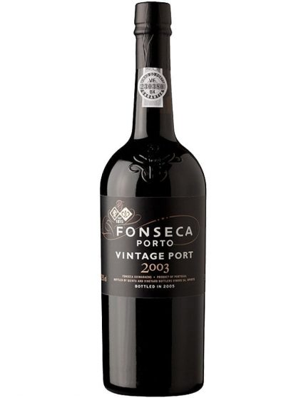 Une bouteille de Fonseca Vintage 2003