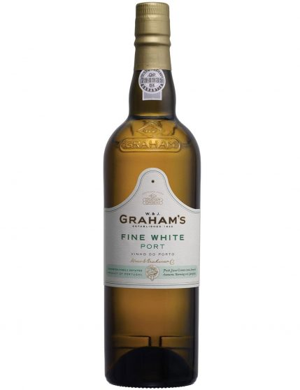 A Bottle of Graham's Extra Dry White Port Wine