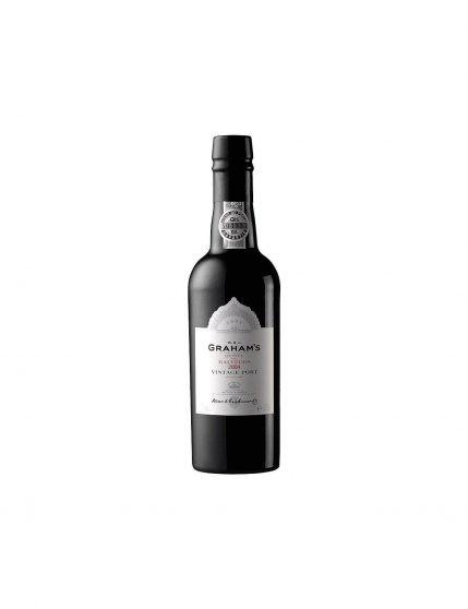 Une bouteille de Graham's Quinta dos Malvedos Vintage 2004 37.5cl Porto