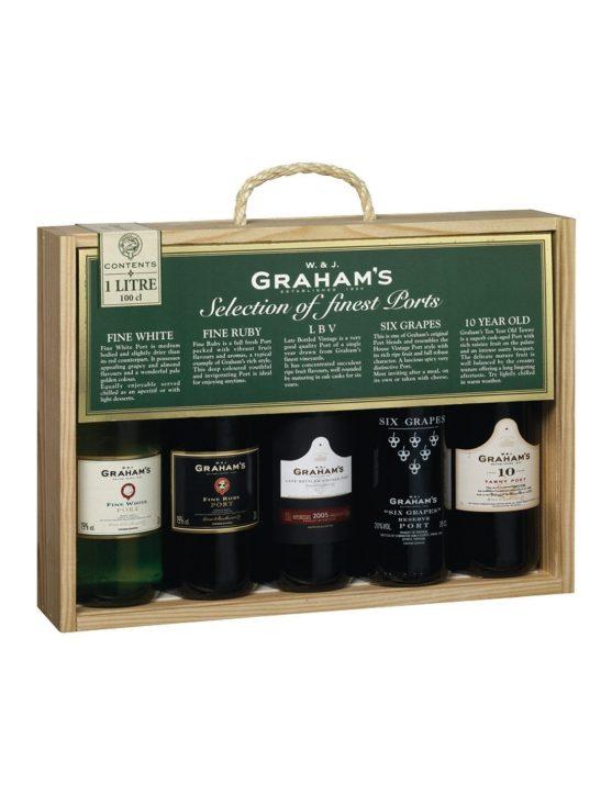 Une bouteille de Graham's Selection Ports (5x20cl)