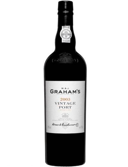 Une bouteille de Graham's Vintage 2003