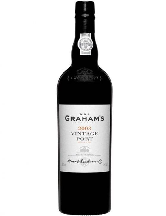 Eine Flasche Graham's Vintage 2003