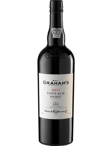 Une bouteille de Graham's Vintage Magnum 2011 Porto