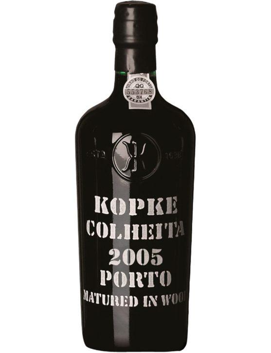 Eine Flasche Kopke Ernte 2005
