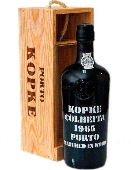 Eine Flasche Kopke Ernte 1965 Portwein