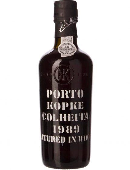 Une bouteille de Kopke Récolte 1989
