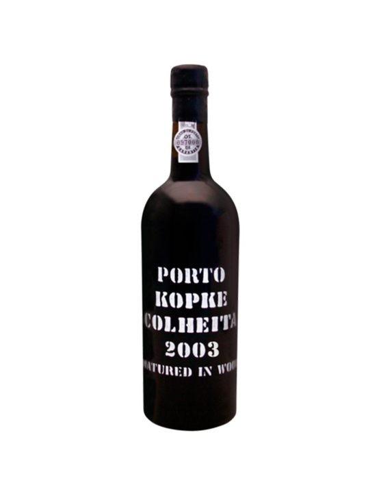Eine Flasche Kopke Ernte 2003 37.5cl Portwein