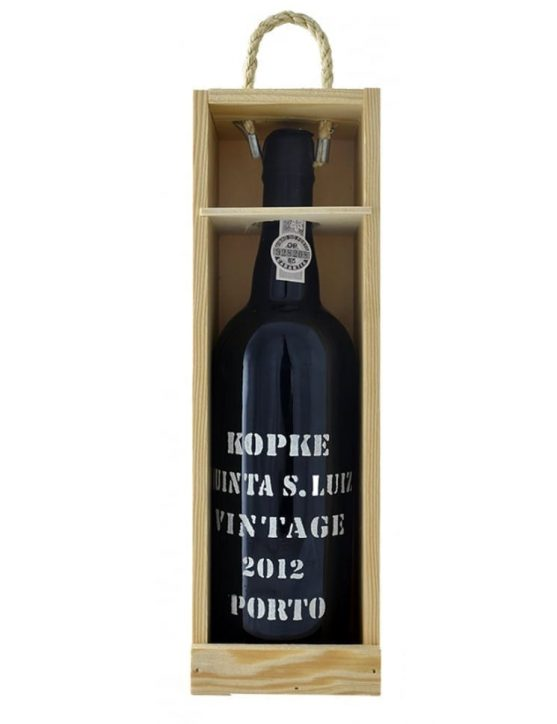 Eine Flasche Kopke Vintage 2012