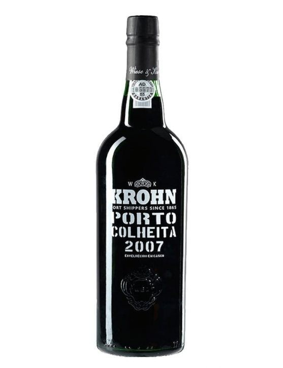 A Bottle of Krohn Harvest 2007 Port