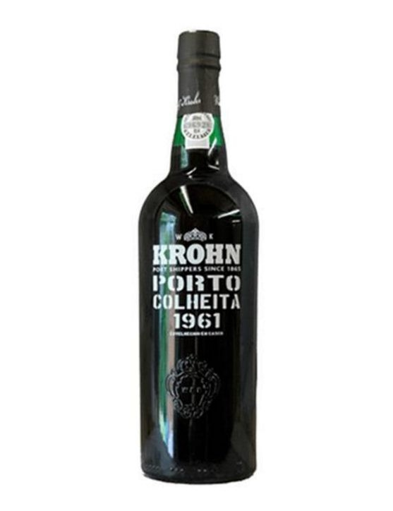 A Bottle of Krohn Harvest 1961 Port