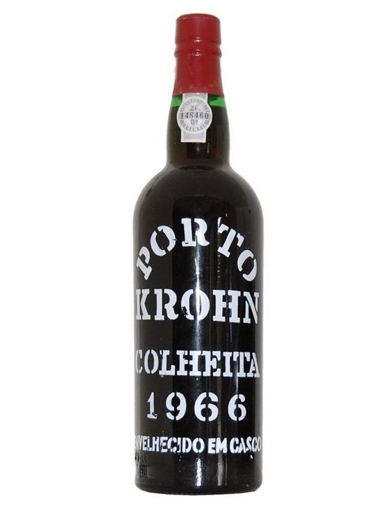 A Bottle of Krohn Harvest 1966 Port