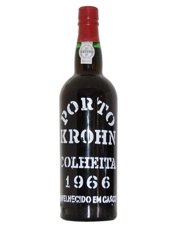 Eine Flasche Krohn Ernte 1966 Portwein