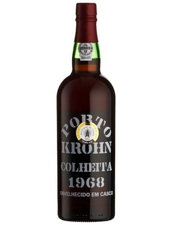 A Bottle of Krohn Harvest 1968 Port