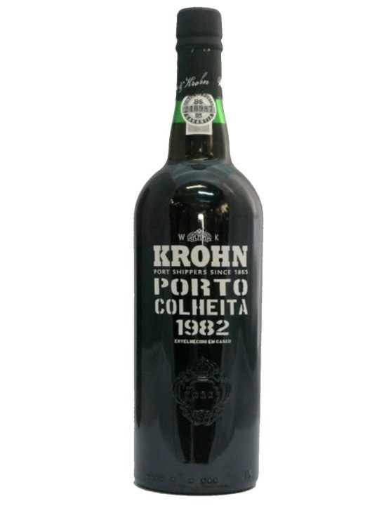A Bottle of Krohn Harvest 1982 Port