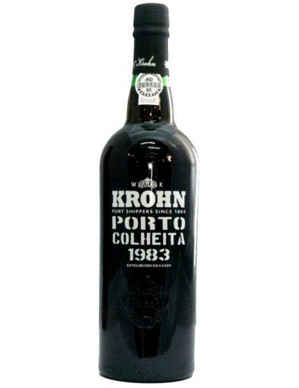A Bottle of Krohn Harvest 1983 Port